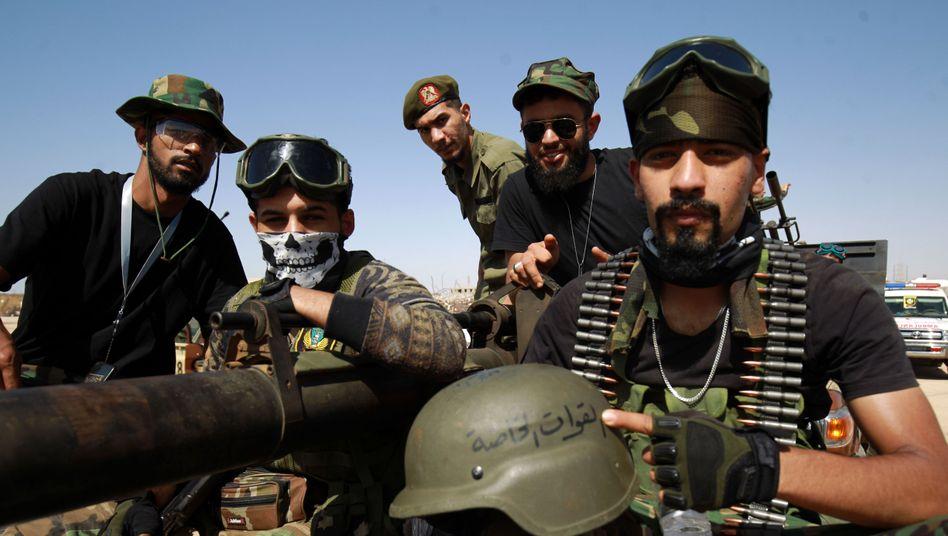 Kämpfer der Libyschen Nationalen Armee in Benghazi im Juni 2020