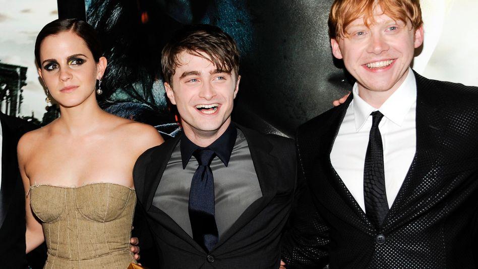 Hauptdarsteller der Harry-Potter-Filme: Emma Watson, Daniel Radcliffe und Rupert Grint