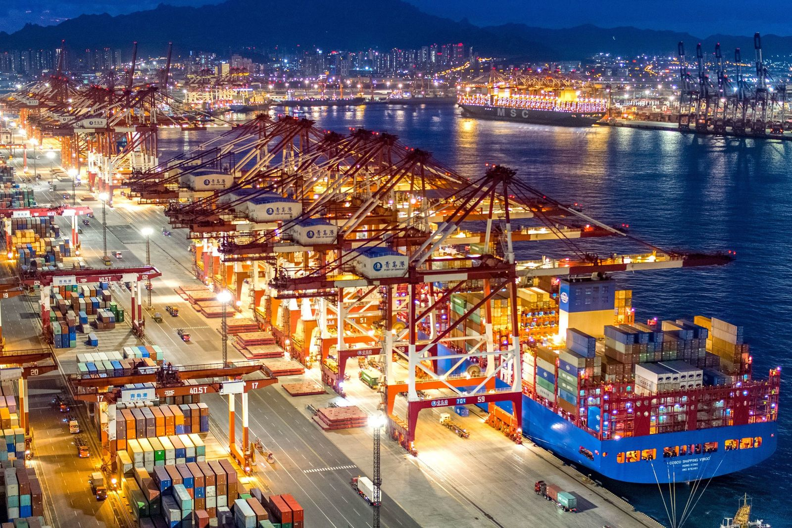 Containerterminal in Qingdao