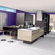 Dezente Farben und edle Flächen: Bei Küchen ist derzeit Purismus angesgt