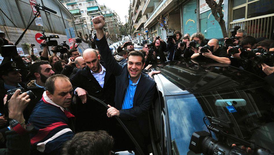 Wahlsieger Tsipras: Die Finanzmärkte sind von den Maßnahmen des Links-Politikers weitgehend unbeeindruckt - mit seinen ersten Amtshandlungen hat Tsipras lediglich die Athener Börse zum Einsturz gebracht
