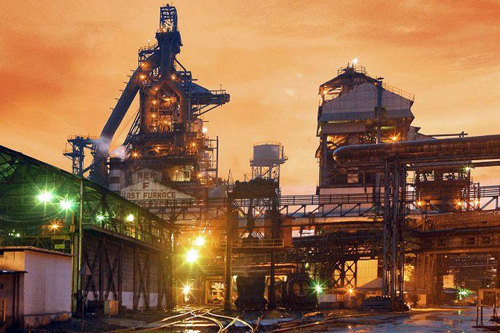 Hochofen von Tata Steel in Jamshedpur