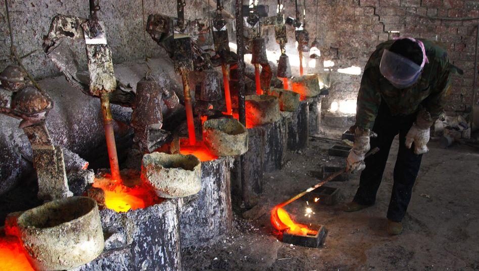 Lanthanum-Schmelze in China: Die Preis für Metalle der Seltenen Erden sind drastisch gesunken