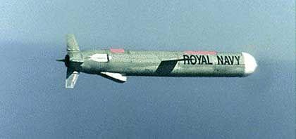 Fliegende Präzisonswaffe: Ein Marschflugkörper vom Typ Tomahawk