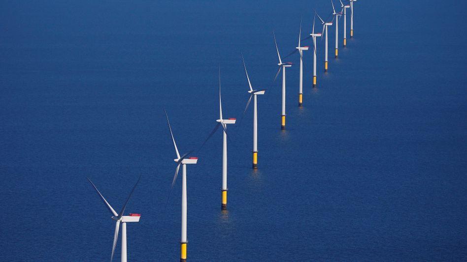 Windpark von Ørsted in der Nordsee: Der dänische Energiekonzern hatte sich erst 2017 von seinem Öl- und Gasgeschäft getrennt und baut Offshore- Parks, die komplett ohne Subventionen auskommen