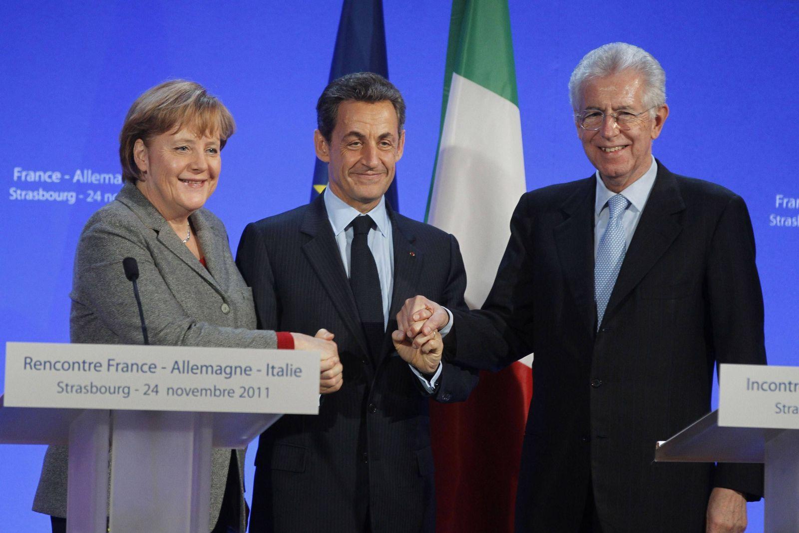 Merkel Sarkozy Monti