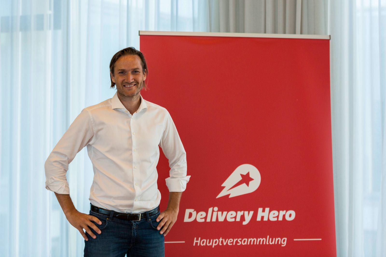 Niklas Östberg (Vorstandsvorsitzender der Delivery Hero AG) auf der Delivery Hero AG Hauptversammlung am 06.06.2018 in B