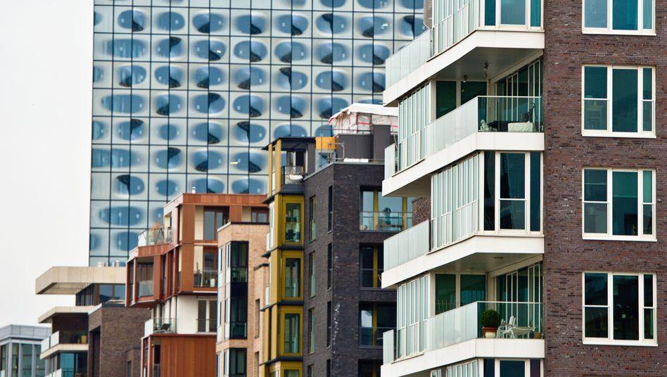 Hamburger Hafencity: Vor allem in Großstädten sind erste Blasen am Häusermarkt erkennbar