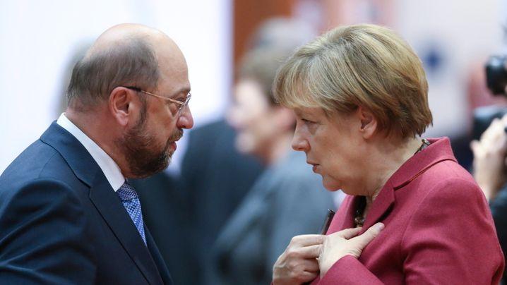Berlin-Neuling gegen ewige Kanzlerin: Martin Schulz und Angela Merkel im Vergleich