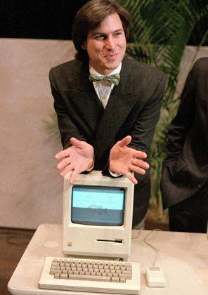 Der erste Mac: Apple-Chef Steve Jobs stellte am 24. Januar 1984 seinen Macintosh-Computer vor