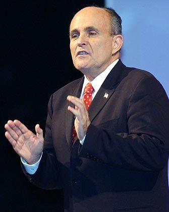 Einträgliches Geschäft an der Wall-Street: Rudolph Giuliani
