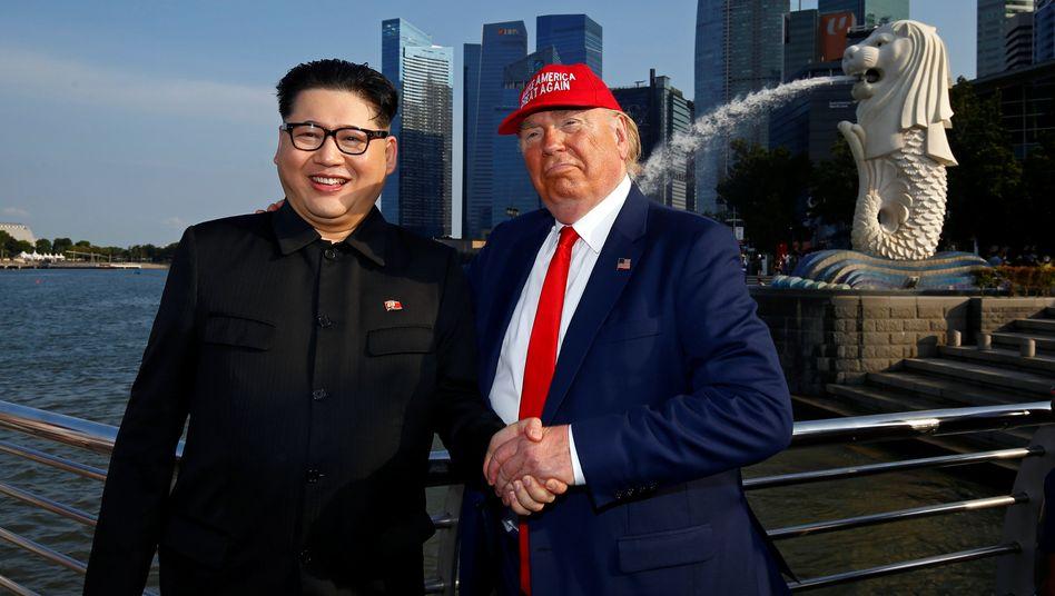 Treffen in Singapur: Vor dem Treffen zwischen Kim und Donald Trump am Dienstag gehen Comedians schon mal in Stellung