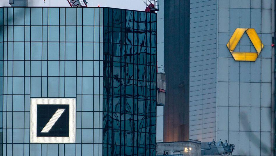 Deutsche und Commerzbank in Frankfurt: Die Institute sprechen über eine mögliche Fusion