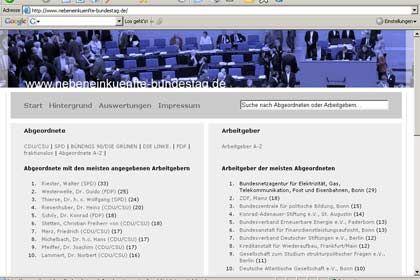 Für mündigere Bürger: Bekannte Informationen über Abgeordnete, neu aufgeschlüsselt