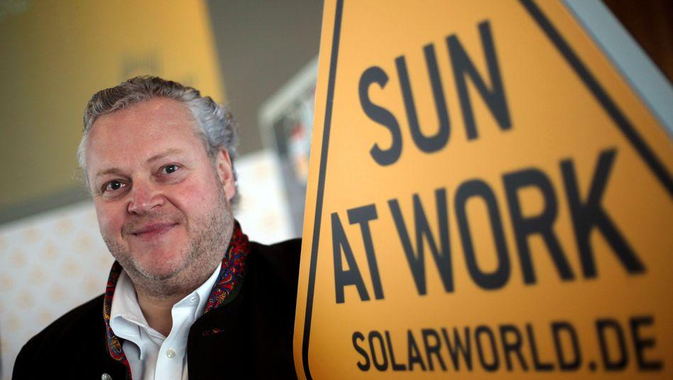 Laut Solarworld-Chef Frank Asbeck hat das Preisdumping durch Konkurrenz aus China Schuld an der Misere