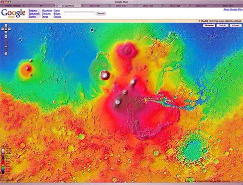Google Mars: Virtuelle Rundflüge auf unserem Nachbarplaneten