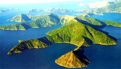 Insel Pohuenui, Neuseeland, Größe: 24 Millionen Quadratmeter, nicht zu kaufen, Miete: 300 Euro pro Tag.