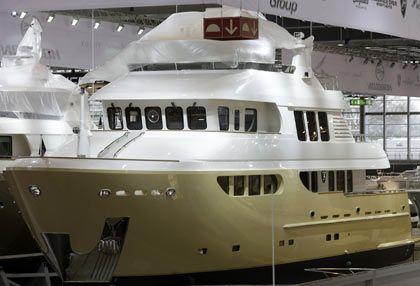 """Star der Messe: Die Sieben-Millionen-Euro-Yacht """"Bandido"""""""