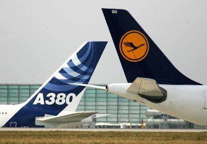Bald vereint: Ab Sommer 2009 wird auch das Seitenruder des A380 ein Kranich zieren