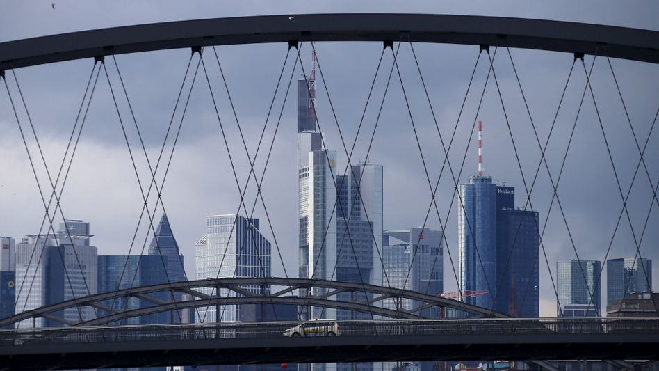 Frankfurt skyline with the Commerzbank headquarters is pictured in Frankfurt, Germany February 11, 2016. REUTERS/Ralph Orlowski/File Photo - RTX2I10D