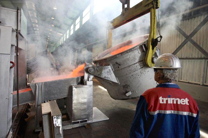 Aluminiumwerk Trimet in Hamburg