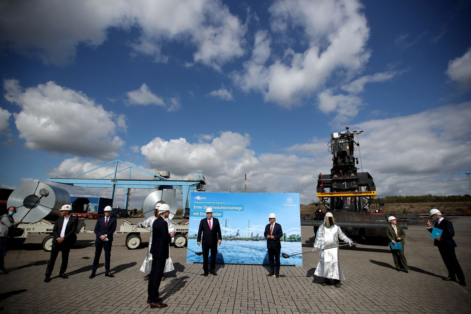 German Minister of Economy and Energy Altmaier visits ThyssenKrupp Steel, Duisburg, Germany - 28 Aug 2020