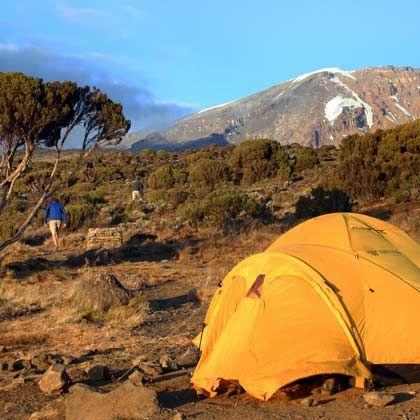 Für manche schon die Endstation: Das Shira Camp liegt in 3800 Metern Höhe