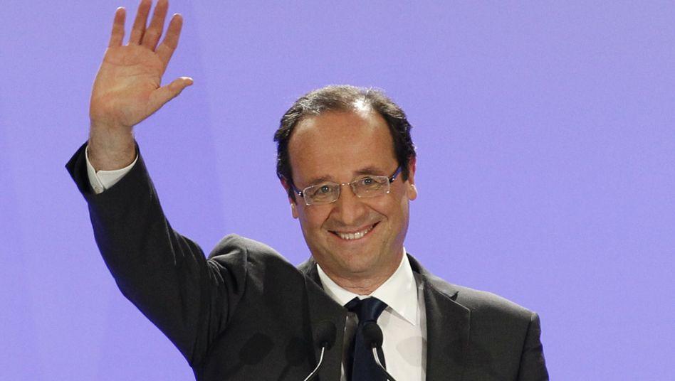 François Hollande: Der Sozialist hat die erste Runde im Kampf um das französische Präsidentenamt gewonnen