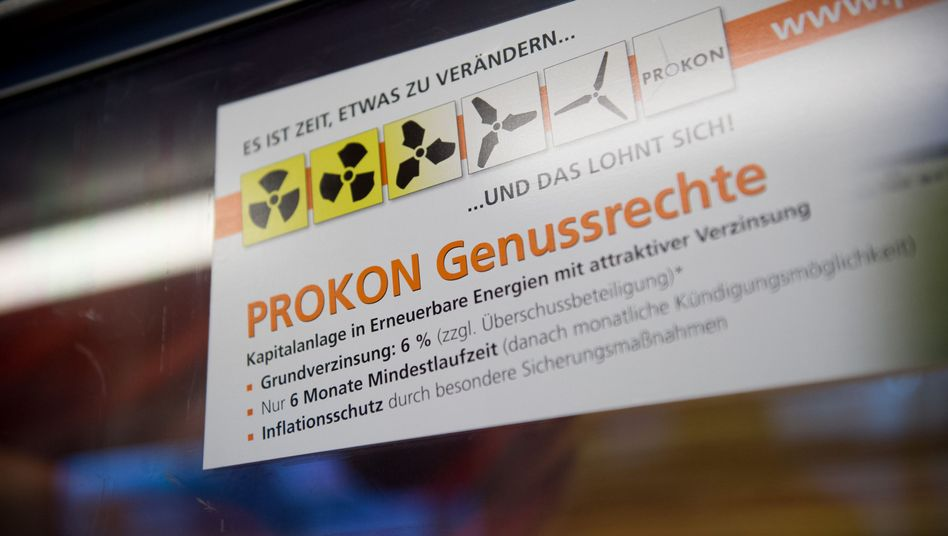 Prokon-Werbung in der Hamburger U-Bahn: Seriös geht anders