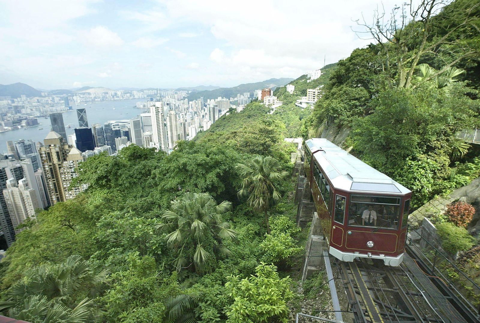 Verkehr / Hongkong / China / Seilbahn / Victoria Peak / Peak Tram