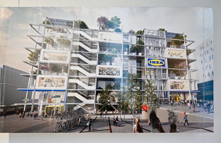 Kaufhaus der Zukunft: In Wien baut Ikea einen Laden ohne Parkplätze - aber mit vielen Bäumen.