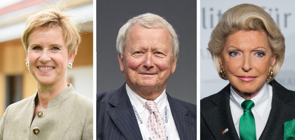 Milliardenverluste beim Buchwert: Susanne Klatten, Wolfgang Porsche, Maria-Elisabeth Schaeffler