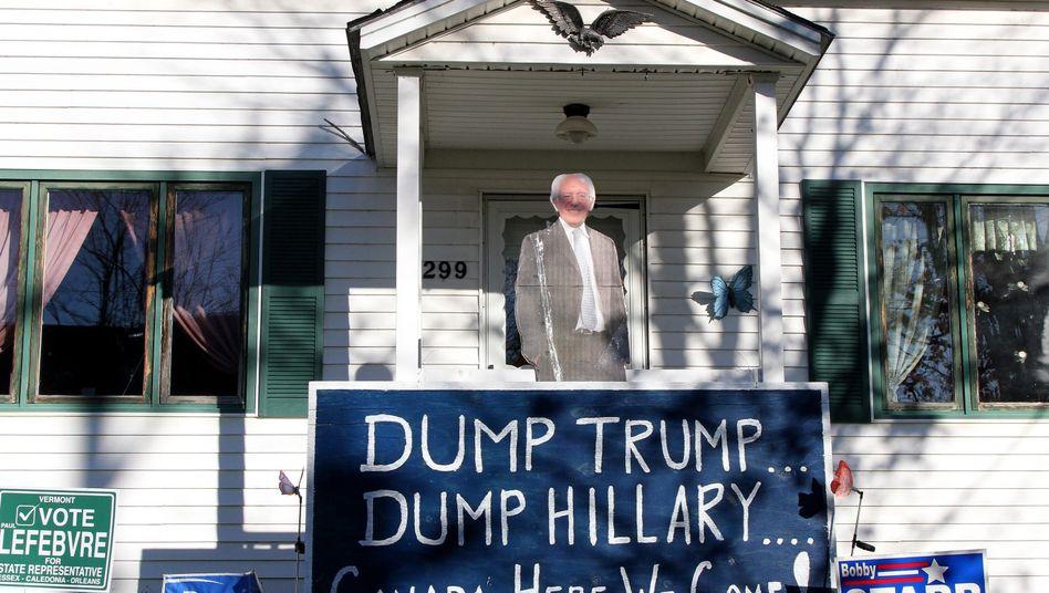 Dieser Hausbesitzer fand schon kurz vor der Wahl klare Worte: Beide Kandidaten fallenlassen und ab nach Kanada