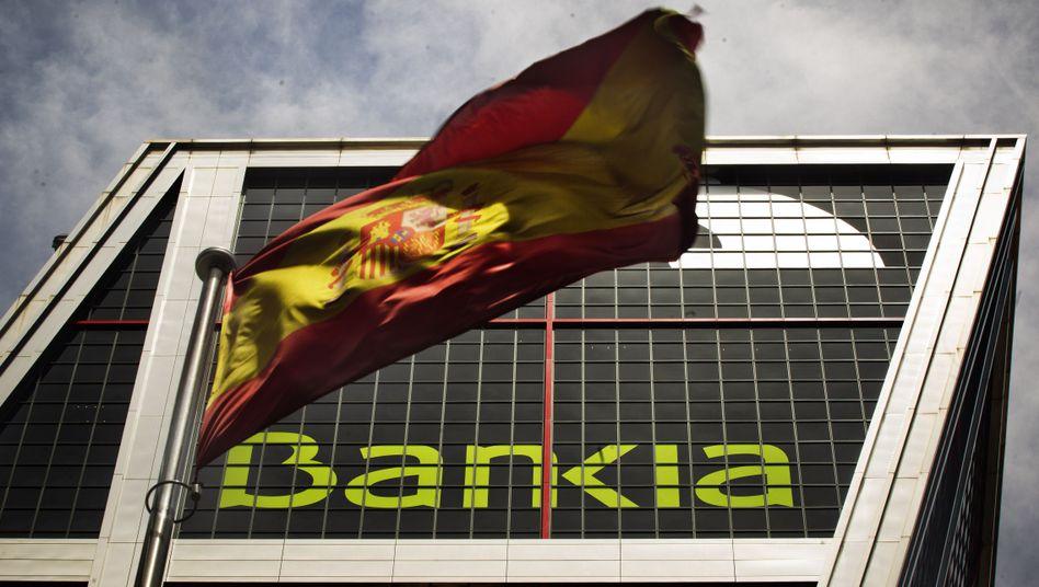 Hauptquartier der Bankia in Madrid: Spaniens Banken erhalten noch im Juli 30 Milliarden Euro
