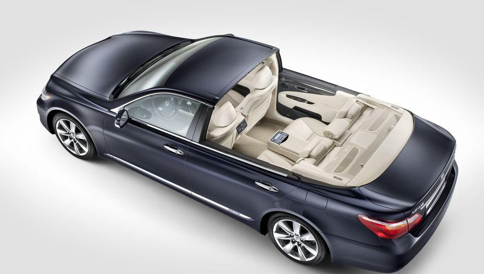 Halb elektrisch zum Altar: Das Landaulet von Lexus für die Fürstenhochzeit in Monaco fährt mit einem Hybridantrieb