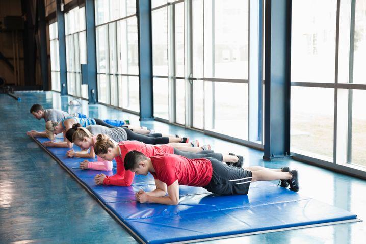 Planken für die gute Sache: Die eigene Fitness