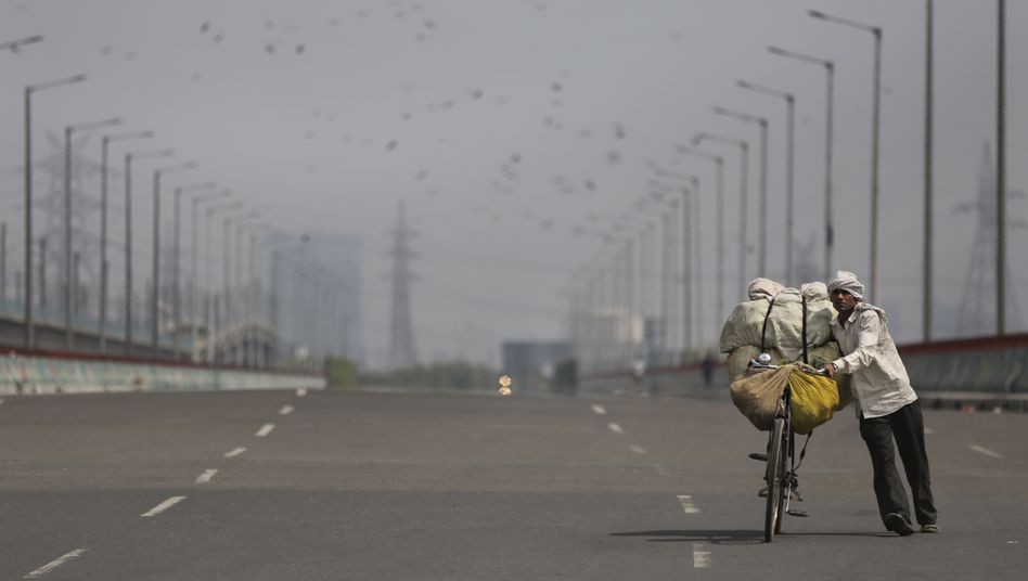 Lockdown in Indien: Die Straßen in Neu-Delhi sind leer.