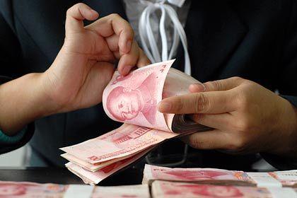 Schwache Währung: Der Yuan hat gegenüber dem Euro seit Jahresbeginn deutlich an Wert verloren