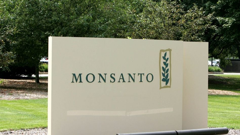 Firmenschild vor Monsanto-Zentrale in St. Louis