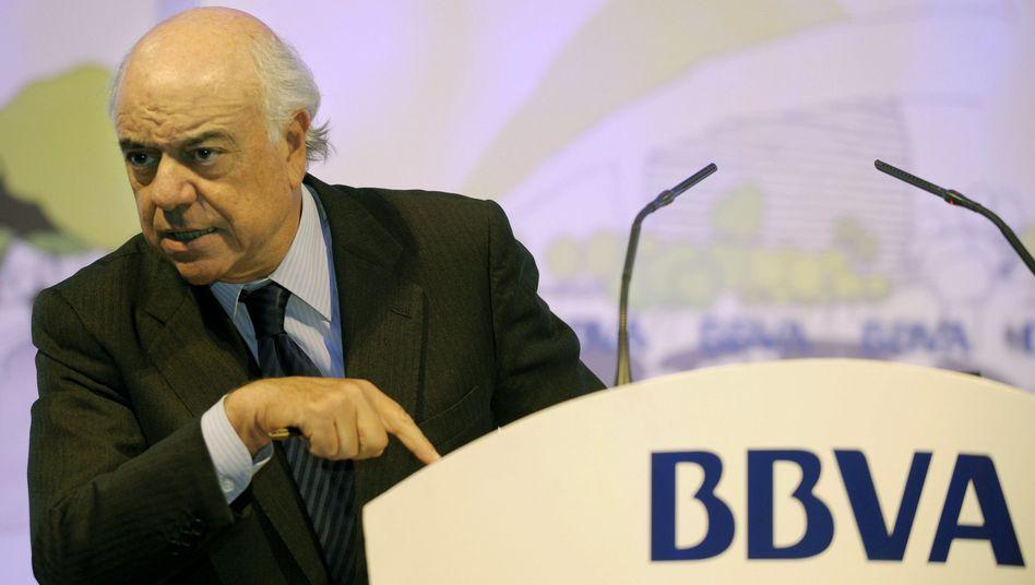 BBVA-Chef Francisco Gonzalez: Spanische Großbanken leiden auch unter der Immobilienkrise, kommen damit aber besser zurecht als die Sparkassen