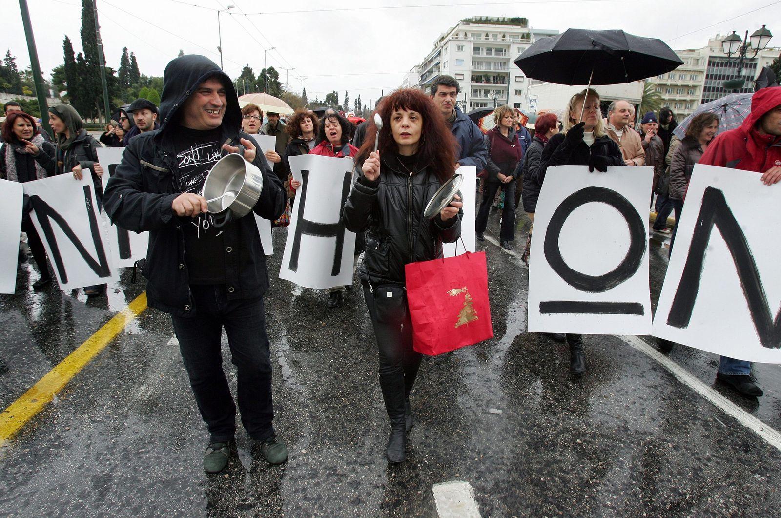 Beamtenstreik in Griechenland