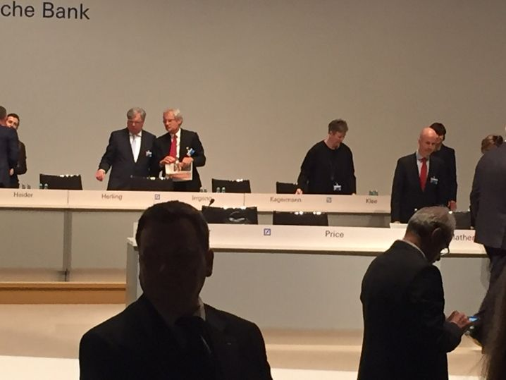 Alfred Herling (l.) und Henning Kagermann: Die beiden Aufsichtsräte keilten gegen Kollege Thoma