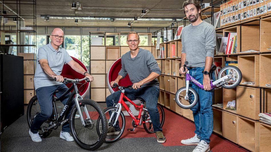 Need for Speed: Die Woom-Macher Guido Dohm, Markus Ihlenfeld und Christian Bezdeka (v. l.) wollen international durchstarten