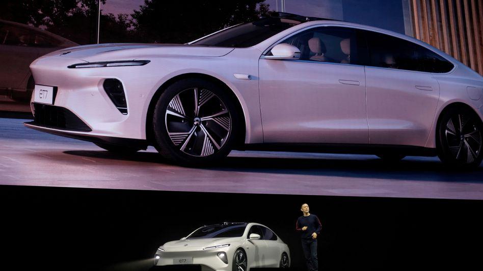 Newcomer: Präsentation des chinesischen Elektroautoherstellers Nio durch Firmengründer William Li