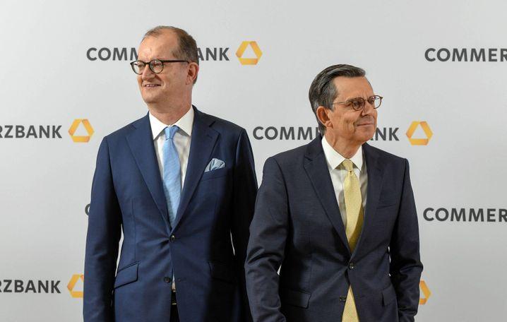 Ärger per Post: Commerzbank-Chef Martin Zielke und Aufsichtsratschef Stefan Schmittmann.