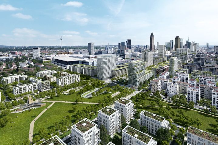 Europaviertel in Frankfurt (Skizze; zum Großbild bitte klicken):