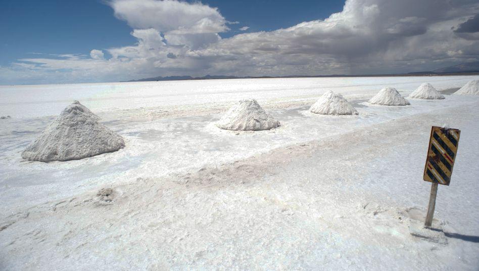 Salzsee von Uyuni in Bolivien: Hier werden die weltweit größten Lithium-Vorkommen vermutet