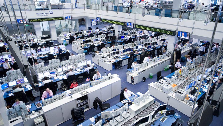 Handelssaal der Deutschen Bank in Frankfurt: Besondere staatliche Bealstung?