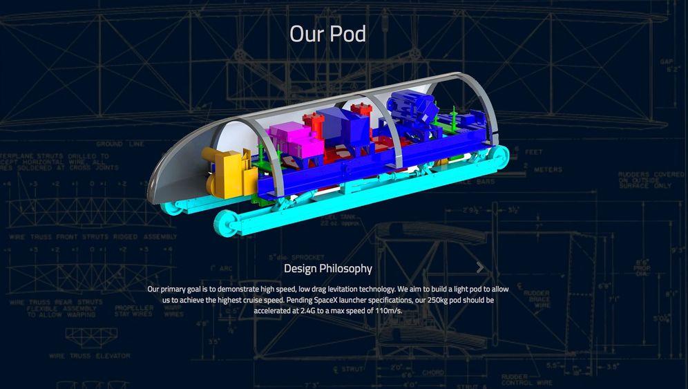 Die Röhrenpost für Menschen: Das Hyperloop-Modell der MIT-Studenten