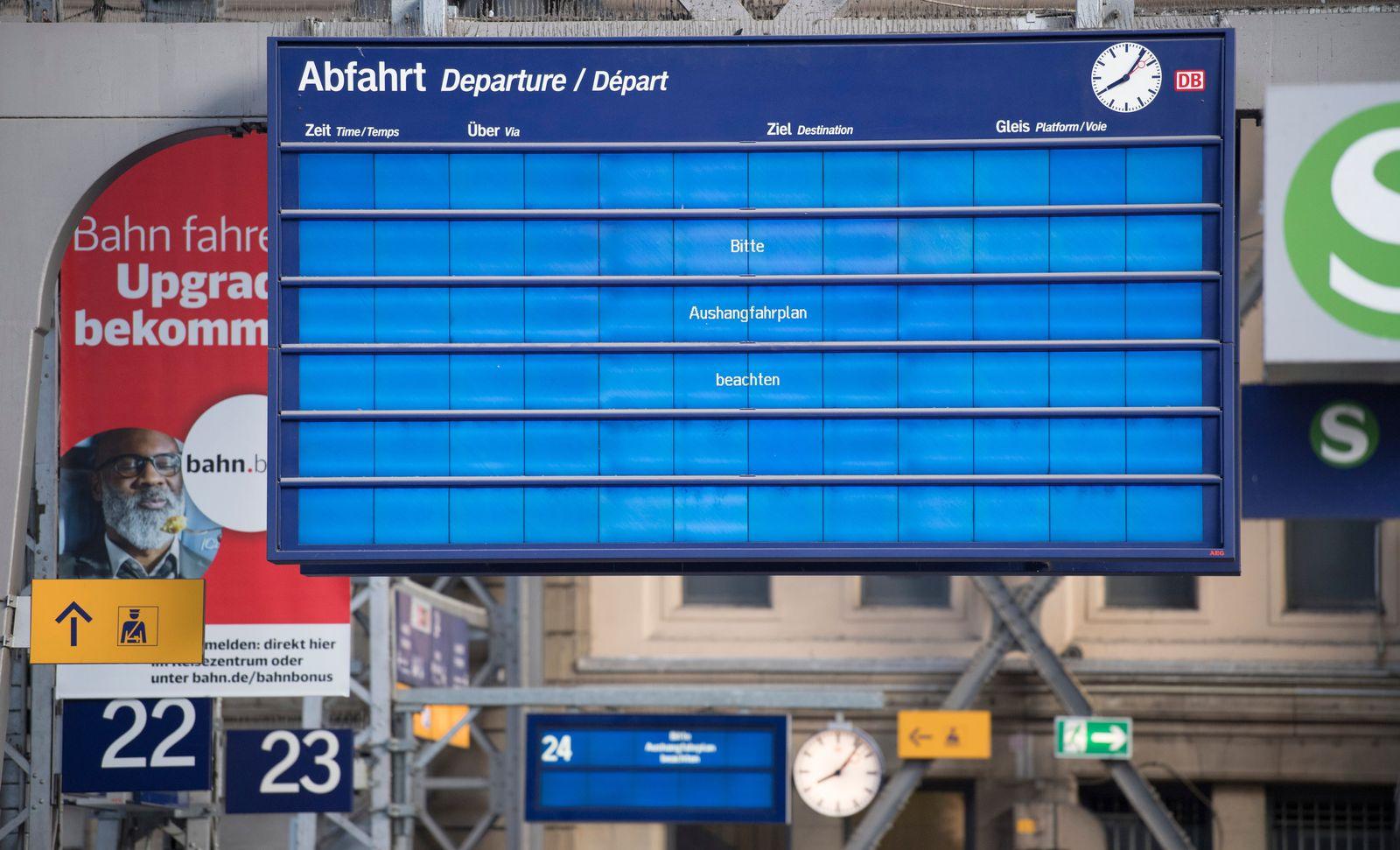 Weltweite Cyber-Attacke - Hauptbahnhof Frankfurt